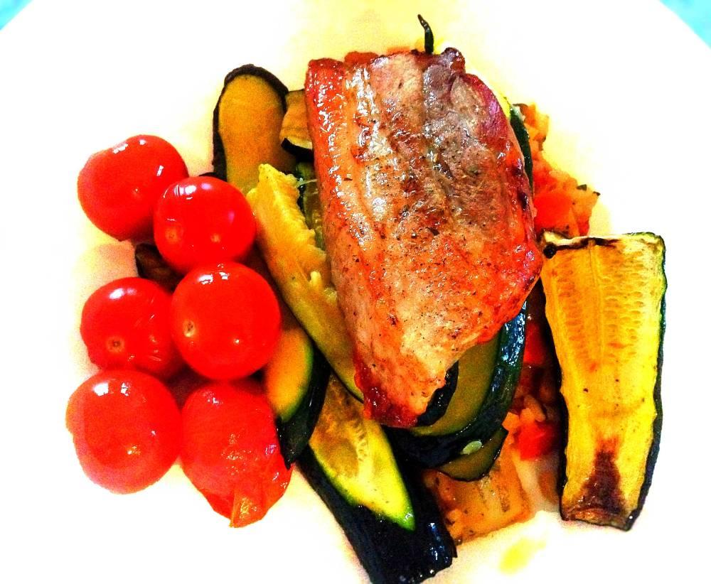 Pork Steak Roasted Tomatoes