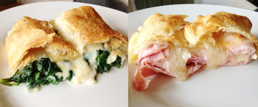 spinach and ham roll